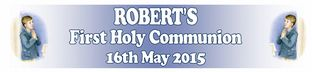 Personalised Boy First Communion Banner Design 4